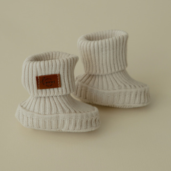 Cotton baby shoes Baked milk