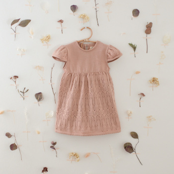 Knitted lace dress Peach