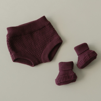 Knitted texture bloomers Bordeaux