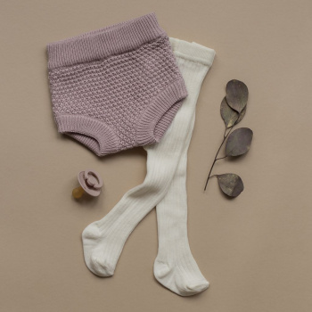 Knitted texture bloomers Smoky rose