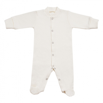 Lace cotton footies Milky