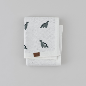 Blanket MINI DINO Milky