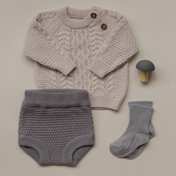 Knitted texture bloomers Grey