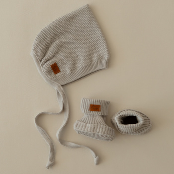 100% cotton knitted hat Baked milk