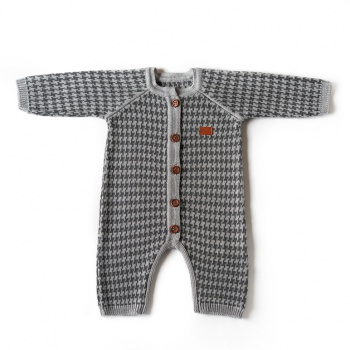 Knitted overalls Austin Silver