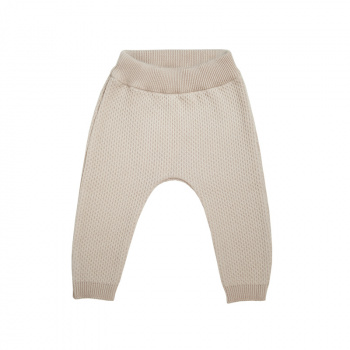 Knitted texture trousers Pearl