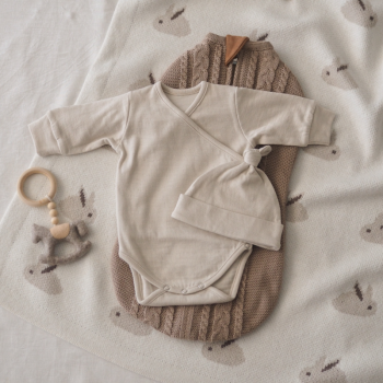 Lace cotton bodysuit Beige