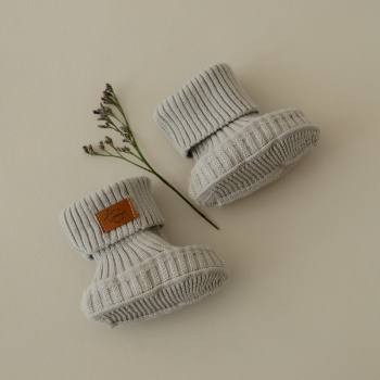 Cotton baby shoes Silver