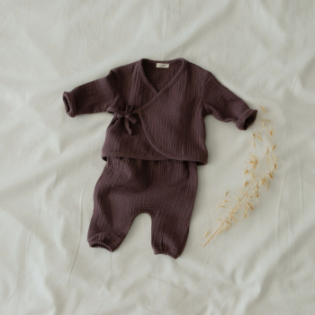 Muslin jacket and trousers set